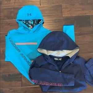 2 UA hoodies